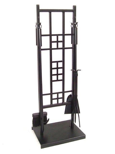 5 Pieces Wrought Iron Fireplace Tool Set