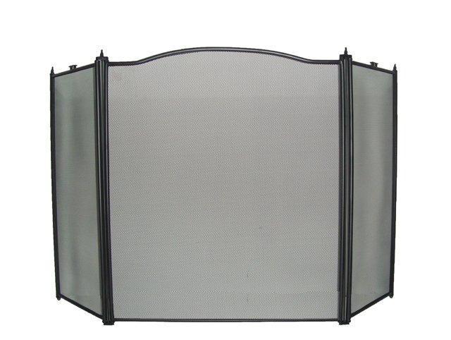 3 Panel Fireplace Screen Guard Black