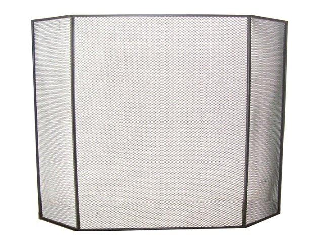 3 Panel Flatguard Fireplace Screen Black