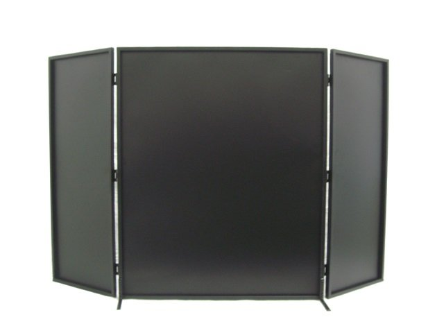 3-Panel Steel Metal Fireplace Screen