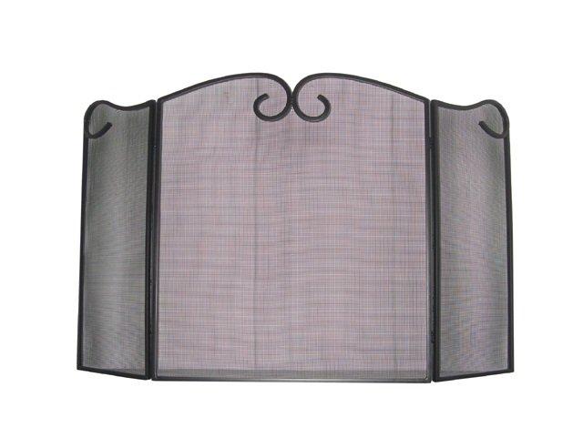 3 Panel Wrought Iron Spark Guard Screen