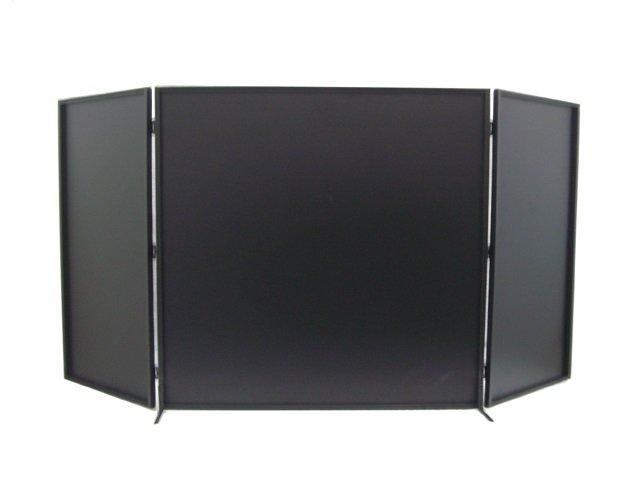 3 Panelled Black Iron Fireplace Screen