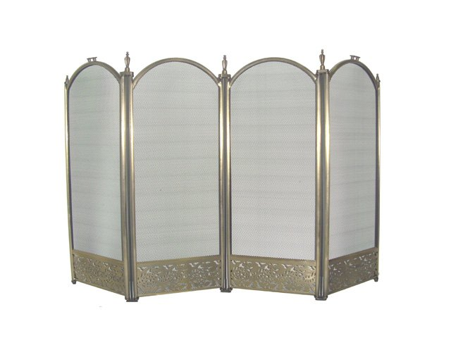 4-Fold Antique Brass Screen Filigree Designs