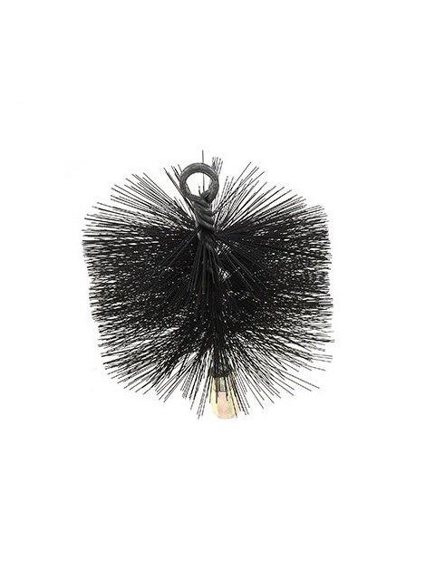 Black Card Wire Round Chimney Sweep Brush