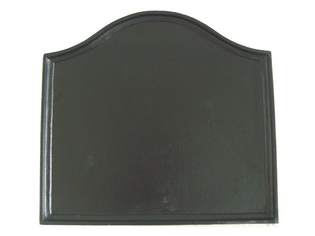 Cast Iron Plain Fireplace Fireback Black