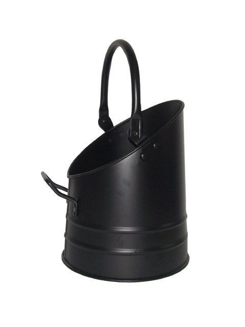 Fire Place Black Iron Coal Scuttle Hod Bucket