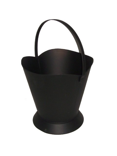Large Black Coal Hod Pellet Bucket Ash Container