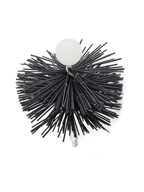 Round Pellet Stove Brush
