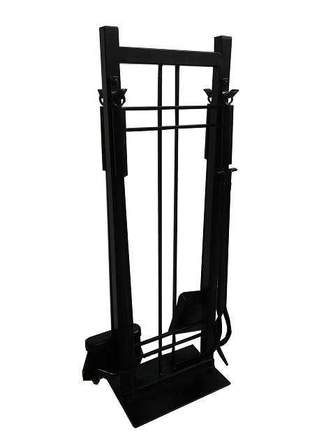 Wrought Iron Fireplace Tool Set with Stand
